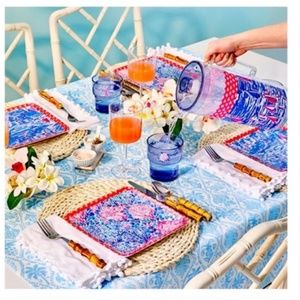 Lilly Pulitzer GWP Pitcher, Tumblers and Plate Set